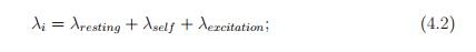 λi = λresting + λself + λexcitation; (4.2)
