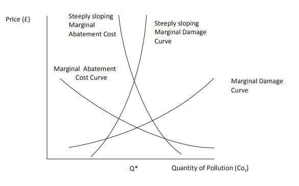 Balancing pollution and abatement costs under uncertainty